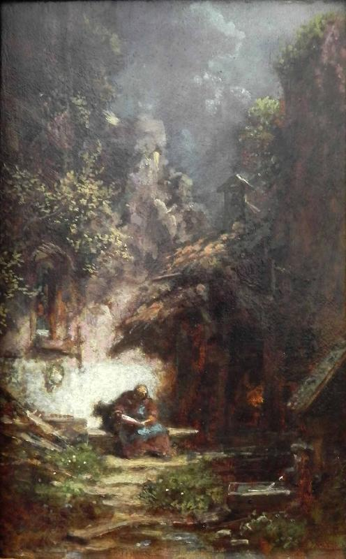 Carl Spitzweg Recluse Reading oil painting picture